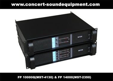 China PA Sound Equipment , 4x1300W 8ohm High Power Output Switching Amplifier FP 10000Q factory
