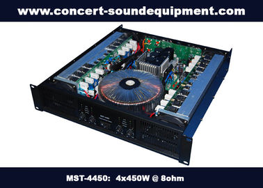 China Pub , Church , School Conference Sound Equipment Class AB 4 X 450W Analogue Amplifier distributor