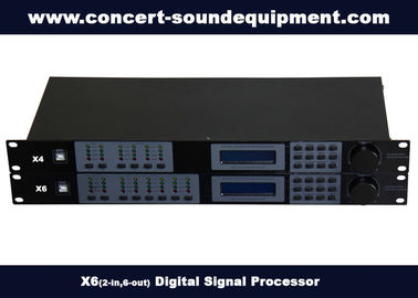 China 2 in 6 out Digital Sound Processor / Audio Digital Signal Processor distributor