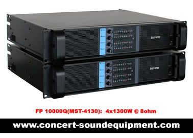 China 4 Channel Switch Mode Amplifier 4 x 1300W FP 10000Q For Line Array Speakers In Concert distributor