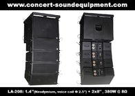 "380W Compact Double 8"" Line Array Speaker For Installation , Church , Conference, Nightclub"